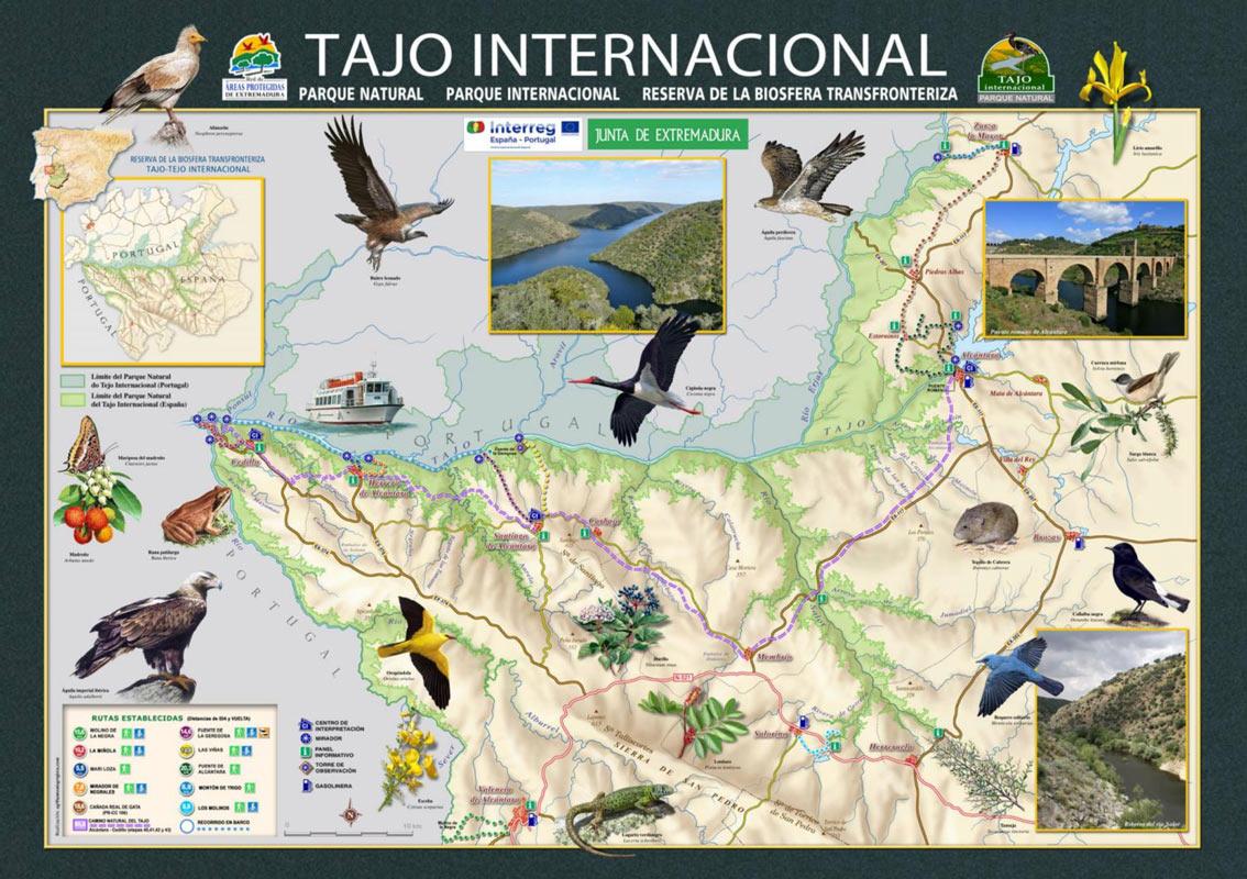 Mapa y Rutas Tajo Internacional